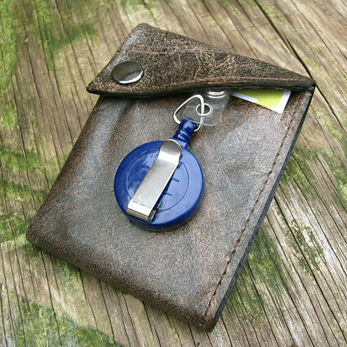 Distressed Brown Bifold Portefeuille Wallet for Men - Made To Order