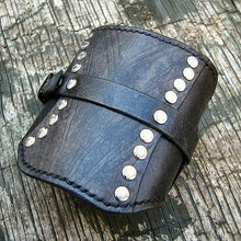 Gladiator Card Wallet Wrist Cuff in Gray by Sewlutionsbyamo
