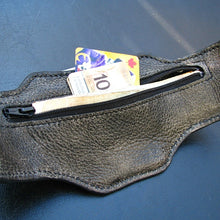 sewlutionsbyamo wristband wallet back in gray leather