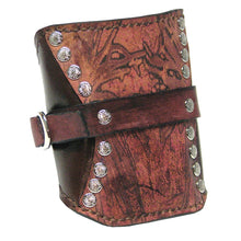 Mahogany Leather Travel Wrist Cuff by Sewlutionsbyamo