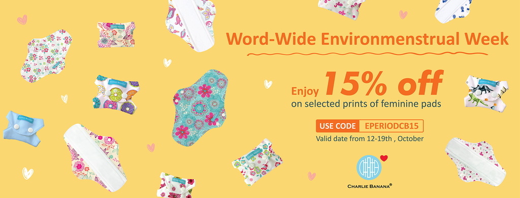 15% OFF Pads and Pouches for Environmenstrual Week of Action!