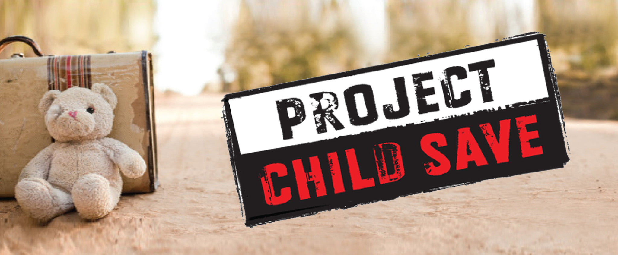Project Child Save logo with teddy bear and suitcase