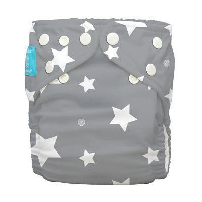 Diaper 2 Inserts Twinkle Little Star White One Size Hybrid AIO