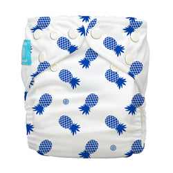 Diaper 2 Inserts Blue Pineapple One Size Hybrid AIO