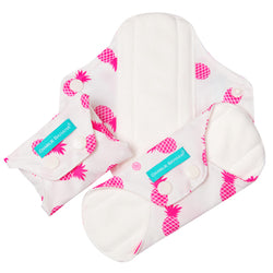 3 Feminine Pads Regular Hot Pineapple