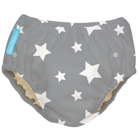 2-in-1 Swim Diaper & Training Pants Twinkle Little Star White Large