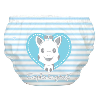 2-in-1 Swim Diaper & Training Pants Sophie Pencil Blue Heart Large