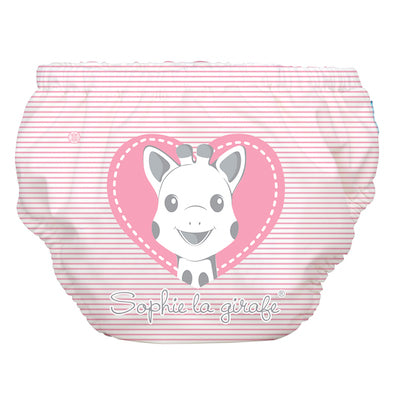 2-in-1 Swim Diaper & Training Pants Sophie Pencil Pink Heart Large