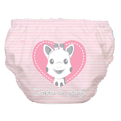 2-in-1 Swim Diaper & Training Pants Sophie Pencil Pink Heart Medium