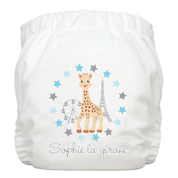 Diaper 2 Inserts Sophie at the Fair White One Size Hybrid AIO