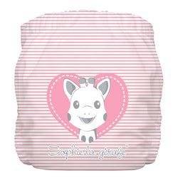 Diaper 2 Inserts Sophie Pencil Pink Heart One Size Hybrid AIO