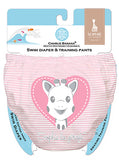 2-in-1 Swim Diaper & Training Pants Sophie Pencil Pink Heart X-Large