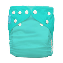 Diaper 2 Inserts Fluorescent Turquoise One Size Hybrid AIO