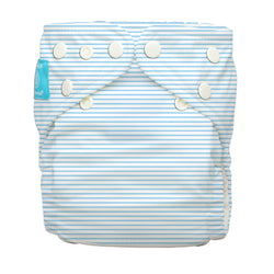 Diaper 2 Inserts Pencil Stripes Blue One Size Hybrid AIO