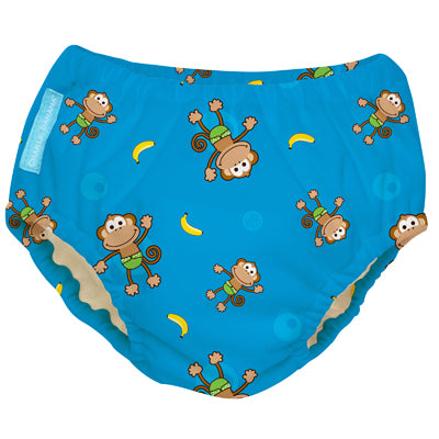 2-in-1 Swim Diaper & Training Pants Monkey Small