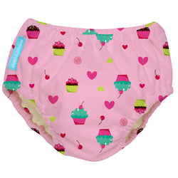 2-in-1 Swim Diaper & Training Pants Cupcakes Baby Pink Small