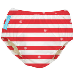 2-in-1 Swim Diaper & Training Pants Red Stripes Small