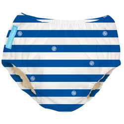 2-in-1 Swim Diaper & Training Pants Blue Stripes Small