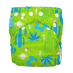Diaper 2 Inserts Cactus Verde One Size Hybrid AIO
