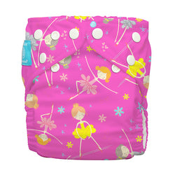 Diaper 2 Inserts Diva Ballerina Pink One Size Hybrid AIO