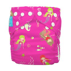 Diaper 2 Inserts Mermaid Zoe One Size Hybrid AIO