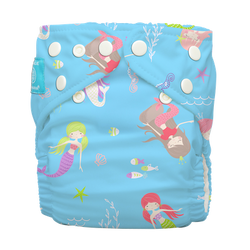 Diaper 2 Inserts Mermaid Tiffany One Size Hybrid AIO