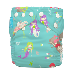 Diaper 2 Inserts Mermaid Jade One Size Hybrid AIO