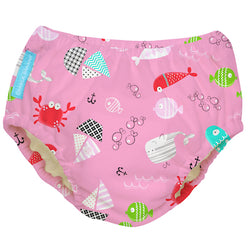 2-in-1 Swim Diaper & Training Pants Florida Pink Large