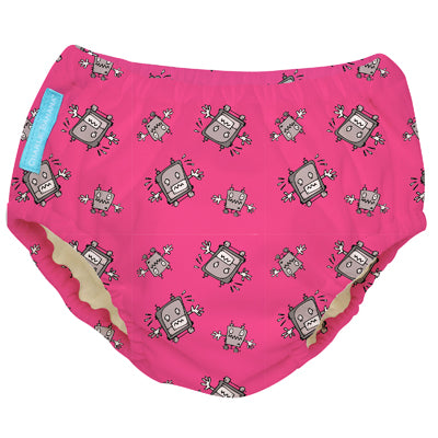 2-in-1 Swim Diaper & Training Pants Matthew Langille Robot Girl Small