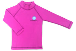 Rash Guard Hot Pink 6-12 months