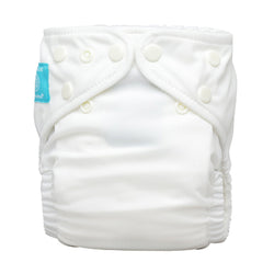 Diaper 2 Inserts White One Size Hybrid AIO