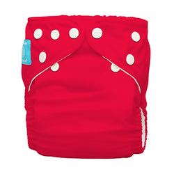 Diaper 2 Inserts Red One Size Hybrid AIO