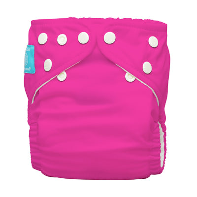 Diaper 2 Inserts Hot Pink One Size Hybrid AIO