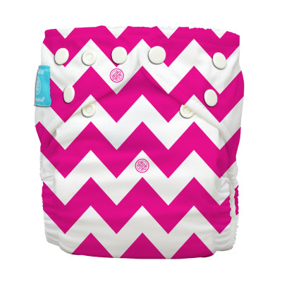 Diaper 2 Inserts Hot Pink Chevron One Size