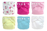 6 Diapers 6 Inserts Butterfly X-Small