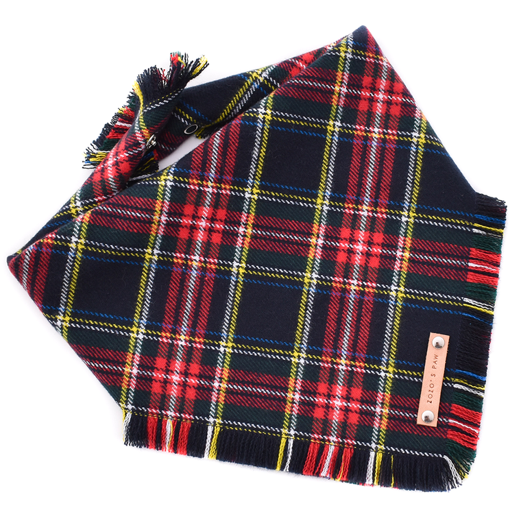 THE AARON - Dog Flannel Fray Bandana
