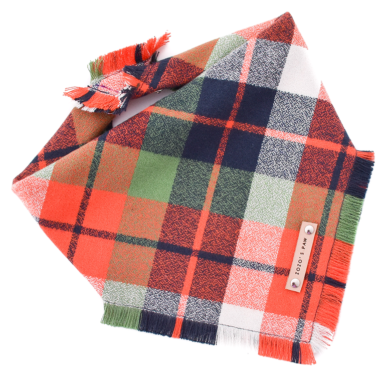 THE BEAU - Dog Flannel Fray Bandana