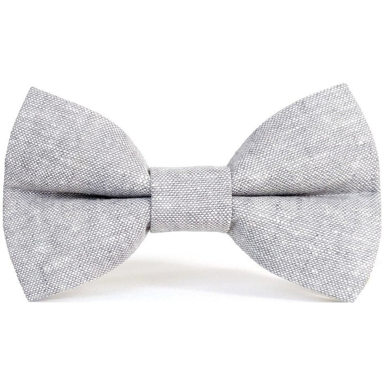 Washed Gray - Dog Bow Tie