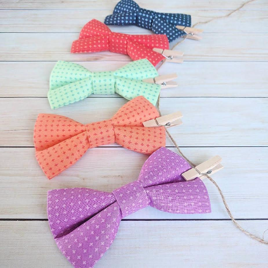 ZoZo's Paw - Dog Bow Tie - Crosshatch Collection