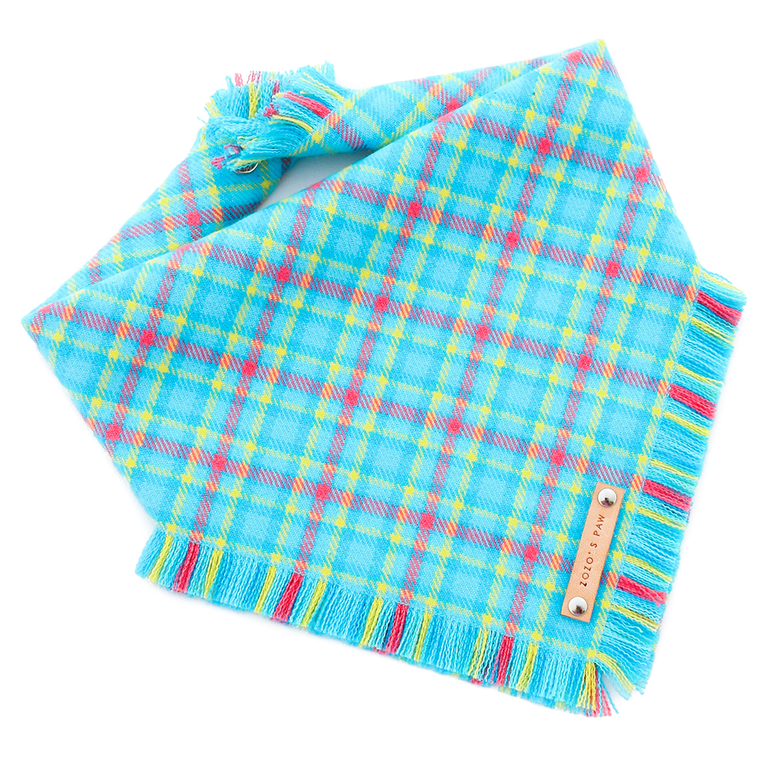 THE ARIEL - Dog Flannel Fray Bandana