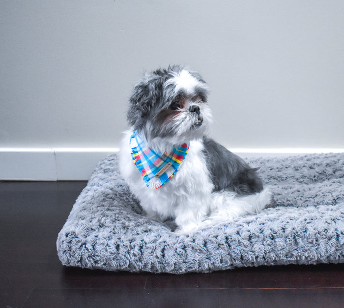 THE RILEY - Dog Flannel Fray Bandana