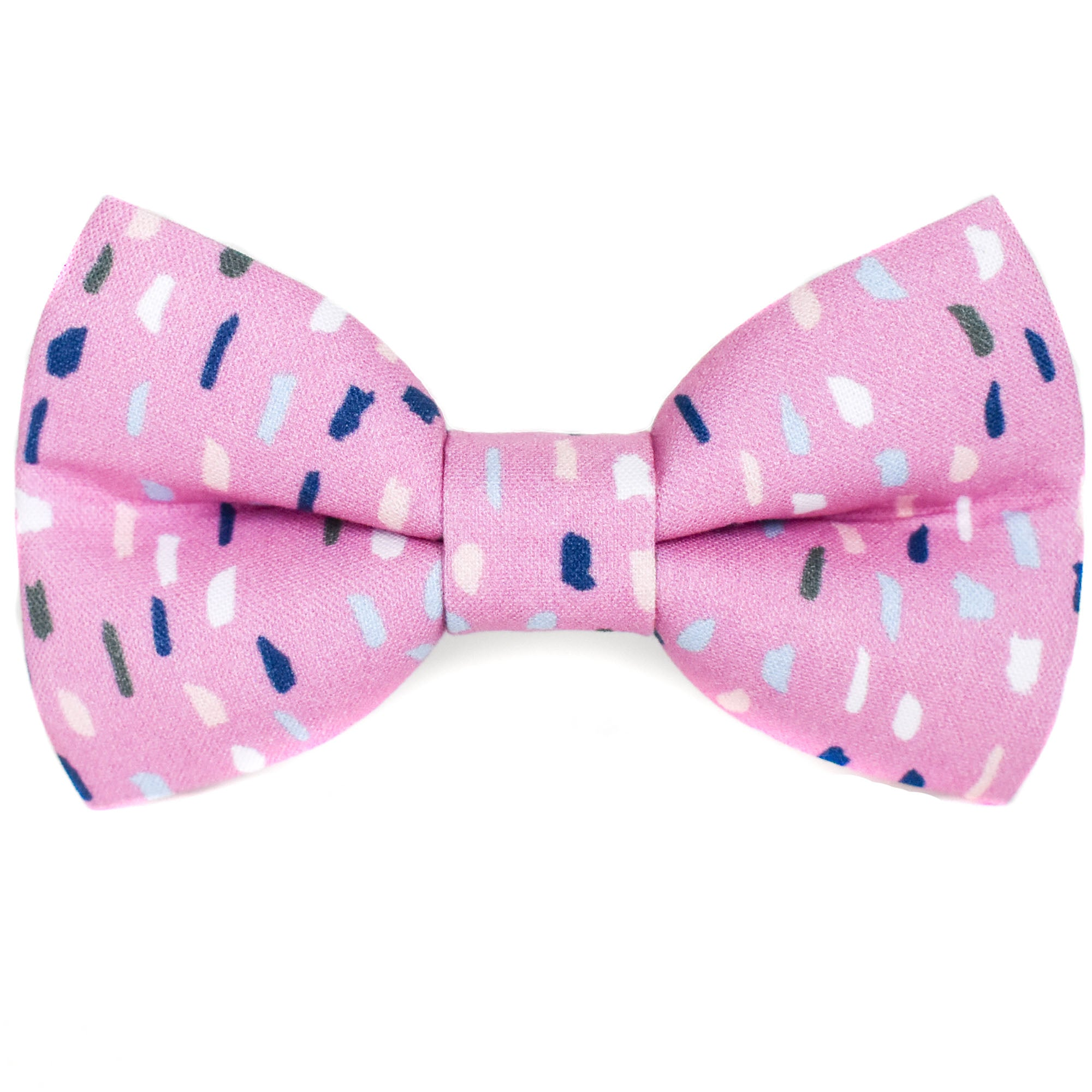 Pink Terrazzo Dog Bow Tie