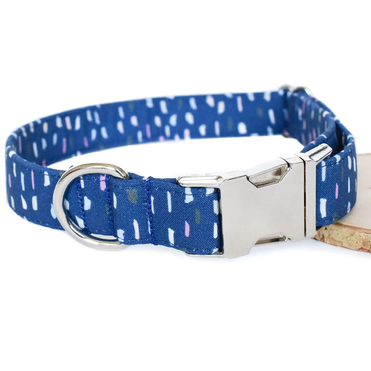 THE BLUE TERRAZZO DOG COLLAR