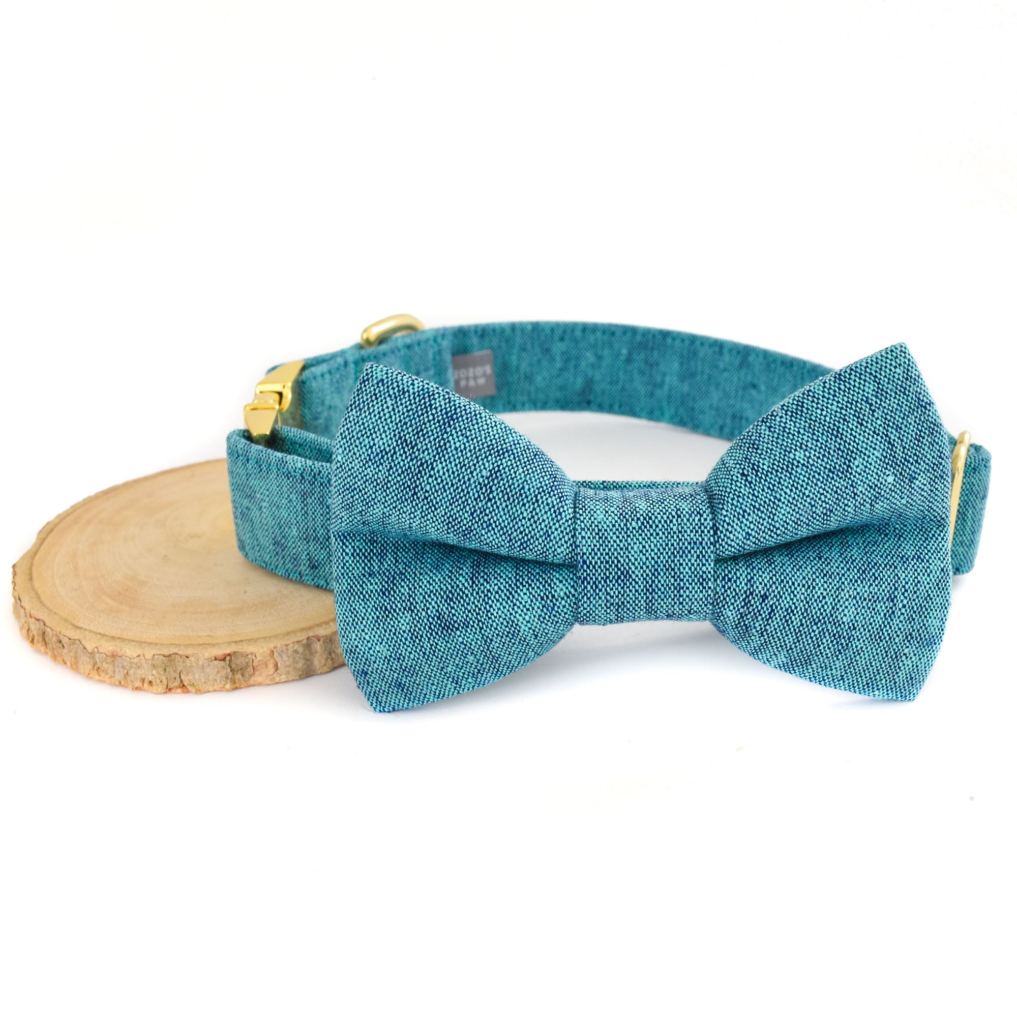 THE ERNIE DOG COLLAR AND BOW TIE SET
