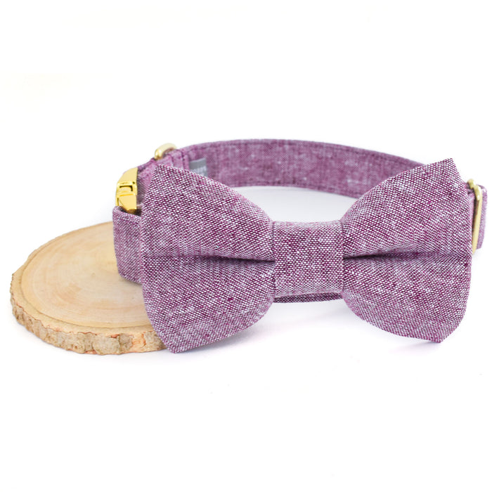 THE MILAN DOG COLLAR AND BOW TIE SET