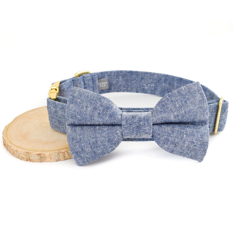 THE OAKLEY DOG COLLAR AND BOW TIE SET