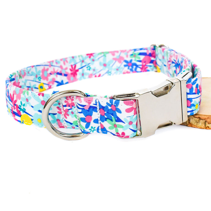 OCEANSIDE FLORAL DOG COLLAR AND BOW TIE SET