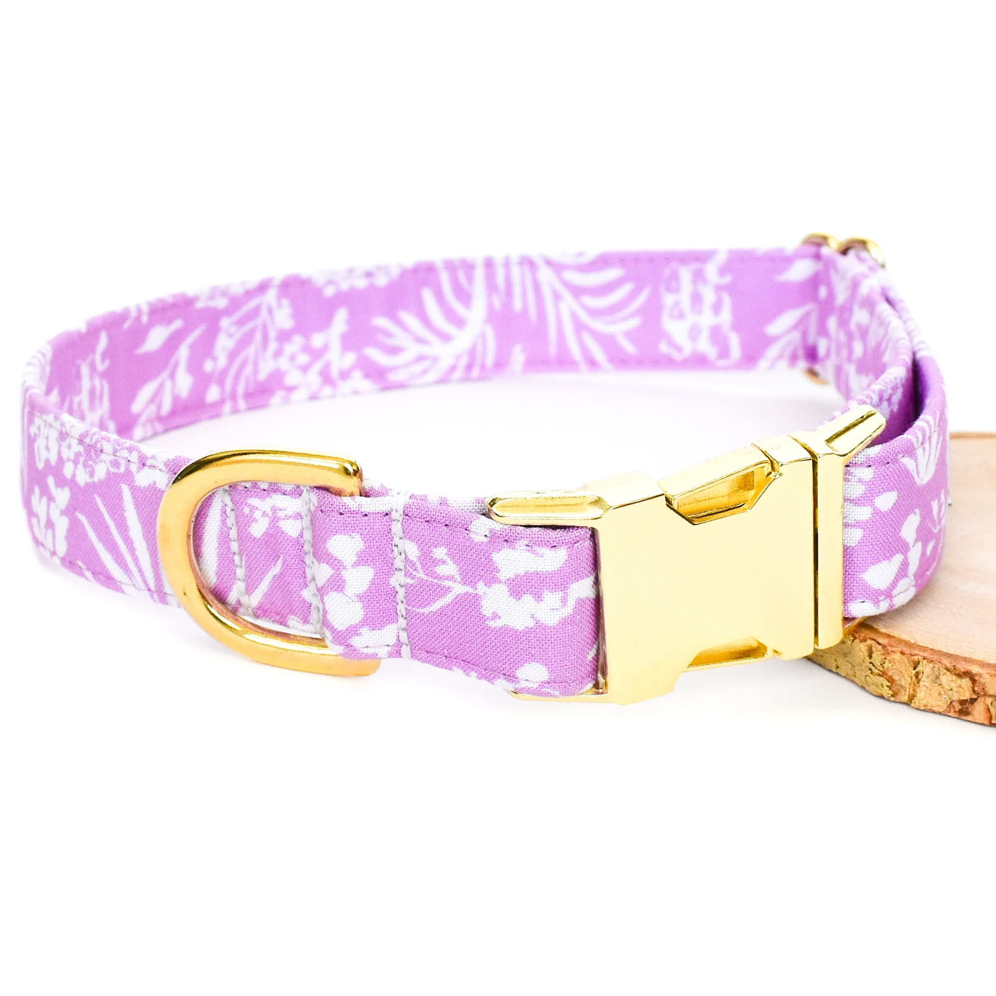 TROPICAL LILAC DOG COLLAR