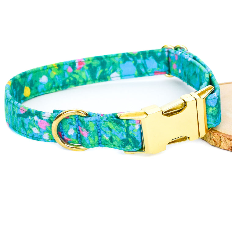PAINTED PETALS DOG COLLAR