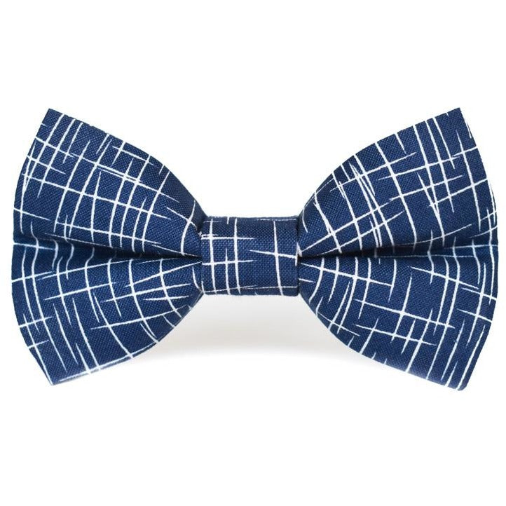 Navy Hashtag - Dog Bow Tie